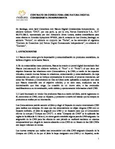 CONTRATO DE CONSULTORA (OR) NATURA DIGITAL COMISIONISTA INDEPENDIENTE