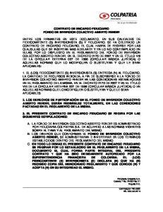 CONTRATO DE ENCARGO FIDUCIARIO FONDO DE INVERSION COLECTIVO ABIERTO RENDIR