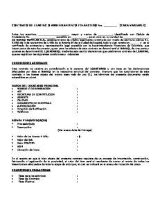 CONTRATO DE LEASING O ARRENDAMIENTO FINANCIERO No. (TASA VARIABLE)