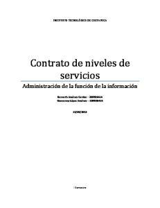 Contrato de niveles de servicios