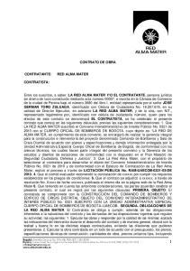 CONTRATO DE OBRA CONTRATISTA: