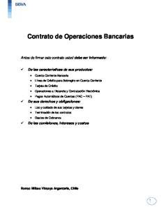 Contrato de Operaciones Bancarias