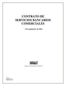 CONTRATO DE SERVICIOS BANCARIOS COMERCIALES