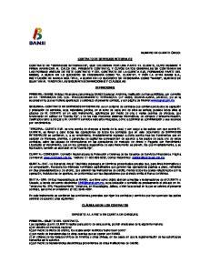 CONTRATO DE SERVICIOS INTEGRALES