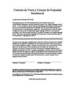 Contrato de Venta y Compra de Propiedad Residencial