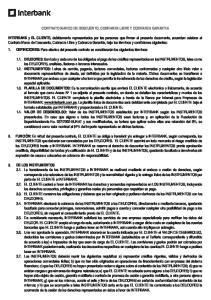 CONTRATO MARCO DE DESCUENTO, COBRANZA LIBRE Y COBRANZA GARANTIA