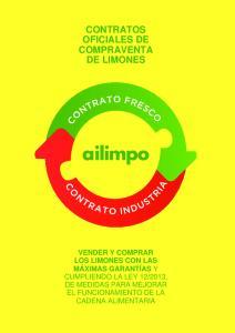 CONTRATOS OFICIALES DE COMPRAVENTA DE LIMONES
