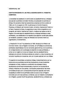 CONTRAVENCIONES DE LAS REGULACIONES SOBRE EL REGISTRO COMERCIAL