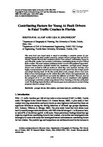 Contributing Factors for Young At Fault Drivers in Fatal Traffic Crashes in Florida