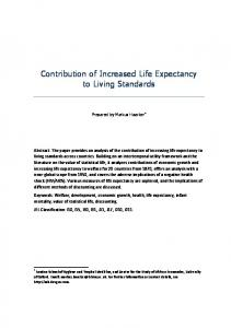 Contribution of Increased Life Expectancy to Living Standards