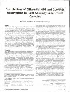 Contributions of Differential GPS and GLONASS Observations to Point Accuracy under Forest Canopies