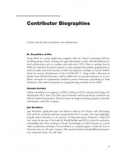 Contributor Biographies