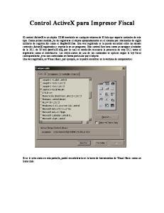 Control ActiveX para Impresor Fiscal