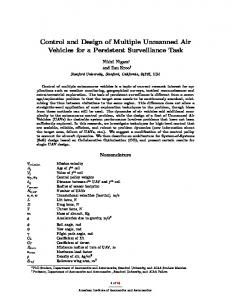 Control and Design of Multiple Unmanned Air Vehicles for a Persistent Surveillance Task