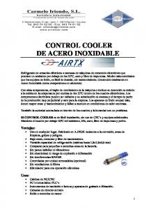 CONTROL COOLER DE ACERO INOXIDABLE