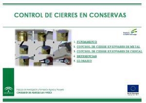 CONTROL DE CIERRES EN CONSERVAS