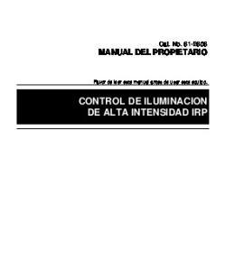 CONTROL DE ILUMINACION DE ALTA INTENSIDAD IRP