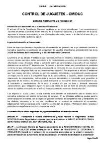 CONTROL DE JUGUETES - OMIDUC