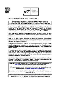 CONTROL DE SUELOS CONTAMINADOS POR ACTIVIDADES POTENCIALMENTE CONTAMINANTES