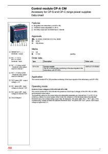 Control module CP-A CM