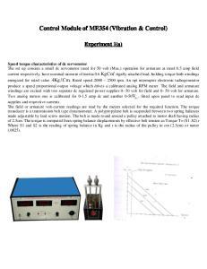 Control Module of ME354 (Vibration & Control)