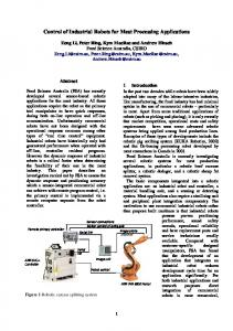 Control of Industrial Robots for Meat Processing Applications