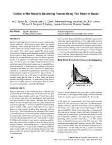 Control of the Reactive Sputtering Process Using Two Reactive Gases