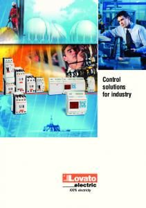 Control solutions for industry