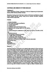 CONTROL SYSTEMS, ROBOTICS AND AUTOMATION Vol. II - Controller Design in Time-Domain - Unbehauen H