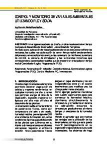 CONTROL Y MONITOREO DE VARIABLES AMBIENTALES UTILIZANDO PLC Y SCADA