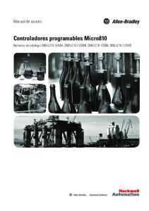 Controladores programables Micro810