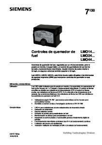 Controles de quemador de fuel