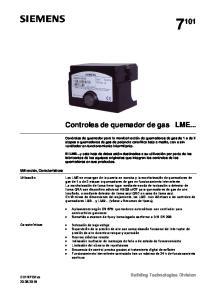 Controles de quemador de gas LME