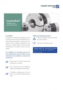 Controlflex Installation and operating manual
