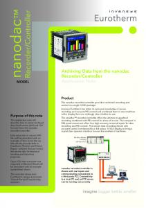 Controller. Application Note. Product. Modbus Master Industry Standard PLC