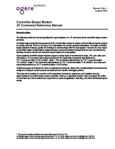 Controller-Based Modem AT Command Reference Manual