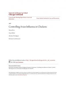 Controlling Avian Influenza in Chickens