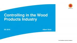 Controlling in the Wood Products Industry