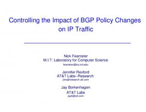 Controlling the Impact of BGP Policy Changes on IP Traffic