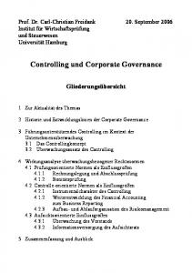 Controlling und Corporate Governance