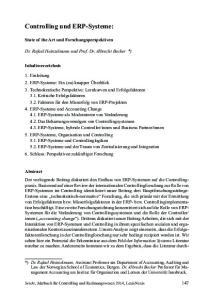 Controlling und ERP-Systeme: