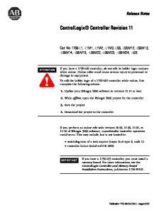 ControlLogix Controller Revision 11