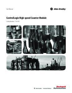 ControlLogix High-speed Counter Module