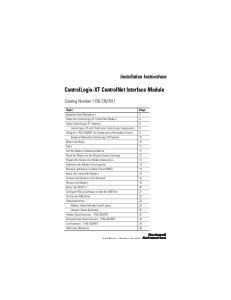 ControlLogix-XT ControlNet Interface Module