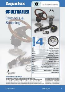 Controls & Steering. Section 4 Contents SECTION 4 CATALOGUE K SECTION 4 1