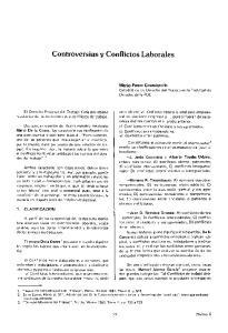 Controversias y Conflictos Laborales