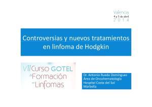 Controversias y nuevos tratamientos en linfoma de Hodgkin