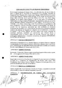CONVENCI6N COLECTIVA DE TRABAJO DROGUERIAS