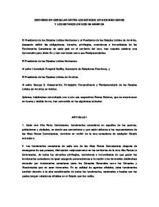 CONVENCION CONSULAR ENTRE LOS ESTADOS UNIDOS MEXICANOS Y LOS ESTADOS UNIDOS DE AMERICA