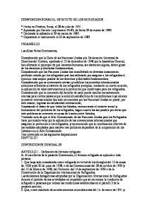 CONVENCION SOBRE EL ESTATUTO DE LOS REFUGIADOS